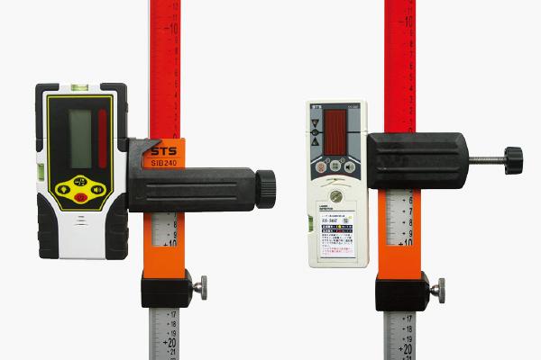 受光器をスライドして比較高低差測定が簡単